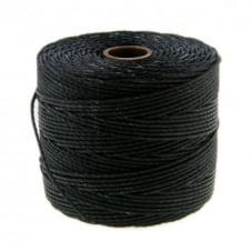 Beadsmith Superlon Bead Cord Tex210 (Extra Heavy #18) - Black - 70m