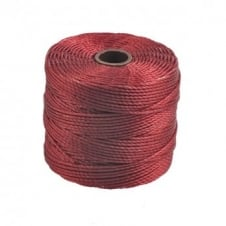 Beadsmith Superlon Bead Cord Tex210 (Extra Heavy #18) - Dark Red - 70m