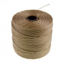 Beadsmith Superlon Bead Cord Tex210 (Extra Heavy #18) - Light Brown - 70m