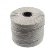Beadsmith Superlon Bead Cord Tex210 (Extra Heavy #18) - Light Grey - 70m