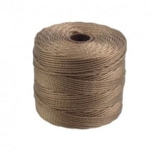 Beadsmith Superlon Bead Cord Tex210 (Extra Heavy #18) - Medium Brown - 70m
