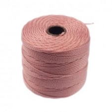Beadsmith Superlon Bead Cord Tex210 (Extra Heavy #18) - Rose - 70m