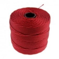 Beadsmith Superlon Bead Cord Tex210 (Extra Heavy #18) - Shanghai Red - 70m
