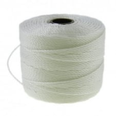 Beadsmith Superlon Bead Cord Tex210 (Extra Heavy #18) - White - 70m