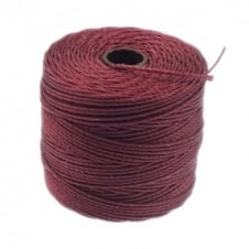 Beadsmith Superlon Bead Cord Tex210 (Extra Heavy #18) - Wine - 70m