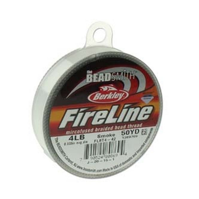 FireLine Beading Thread 4lb - Smoke Grey 0.12mm (.005in) - 45m