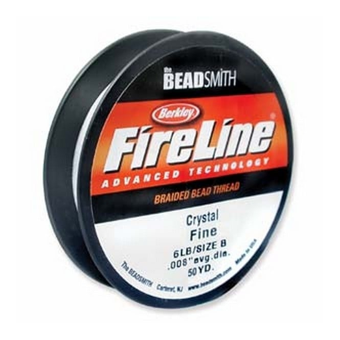 Beadsmith FireLine Beading Thread 6lb - Crystal Clear 0.15mm (.006in) - 45m