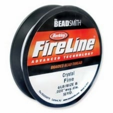FireLine Beading Thread 6lb - Crystal Clear 0.15mm (.006in) - 45m