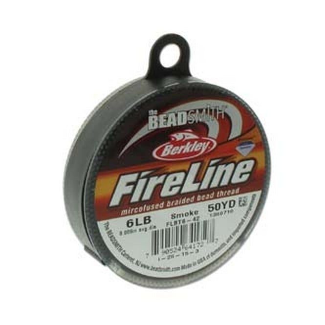 FireLine Beading Thread 6lb - Smoke Grey 0.15mm (.006in) - 45m
