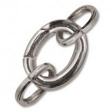 Oval Clasp With 2 Jump Rings 20x15mm - Silver Plated - 1pk