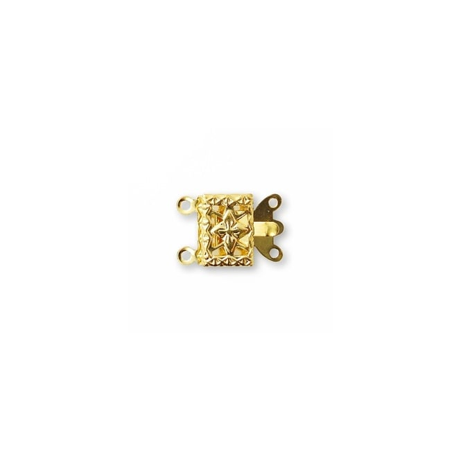 Box Clasp (2 loops) - Gold Plated - 5pk