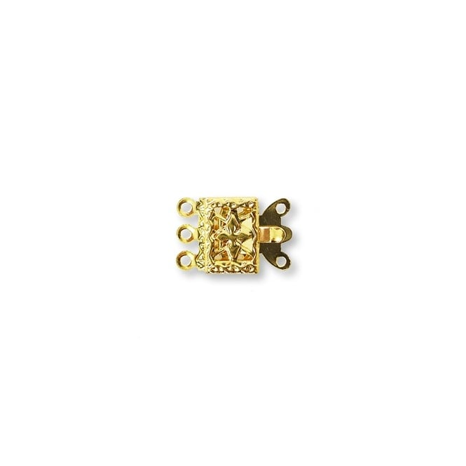 Box Clasp (3 loops) - Gold Plated