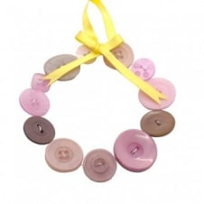 Button Wreath Kit - Blushing Mushroom