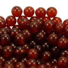 Carnelian Round Gemstone Beads 6mm - 10pcs