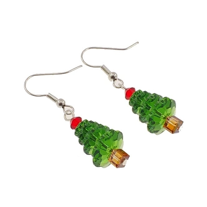 Christmas Tree Earring Kit With Swarovski Crystals The