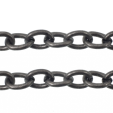 Chunky Oval Link Chain 13x10mm - Antique Silver Plated - 1 metre