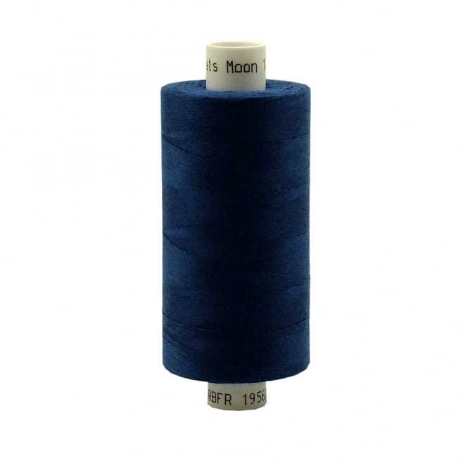 Coats Moon Spun Polyester Sewing Thread 1000 Yards - M001 - Royal Blue