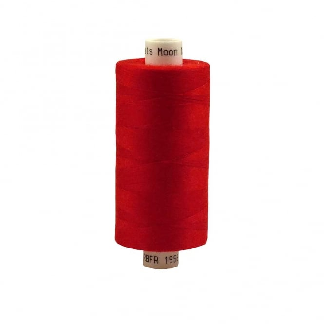 Coats Moon Spun Polyester Sewing Thread 1000 Yards - M012 - Red