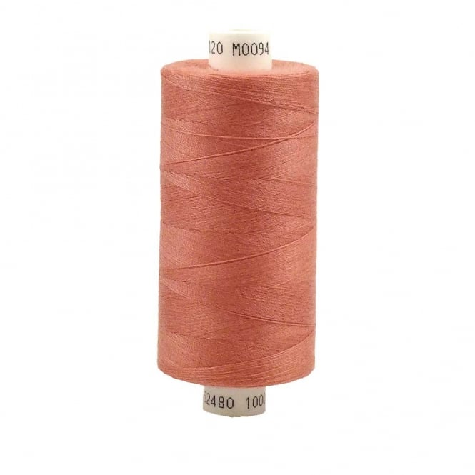 Coats Moon Spun Polyester Sewing Thread 1000 Yards - M016 - Salmon Pink