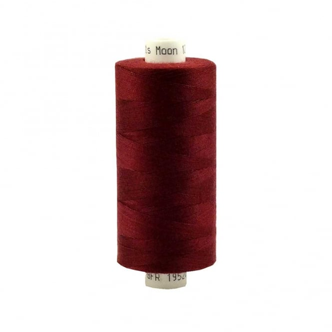 Coats Moon Spun Polyester Sewing Thread 1000 Yards - M019 - Maroon