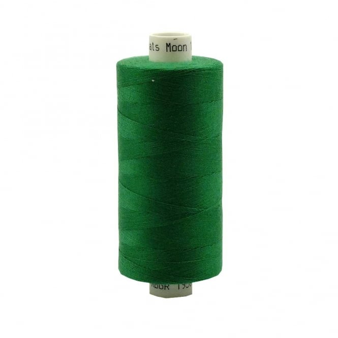 Coats Moon Spun Polyester Sewing Thread 1000 Yards - M038 - Emerald Green