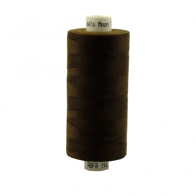 Coats Moon Spun Polyester Sewing Thread 1000 Yards - M056 - Brown