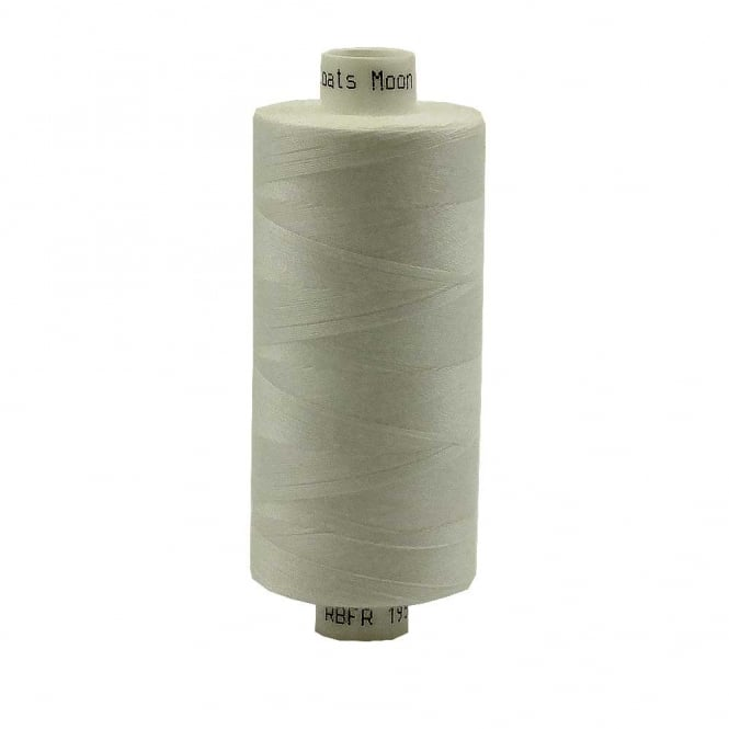 Coats Moon Spun Polyester Sewing Thread 1000 Yards - M076 - Natural