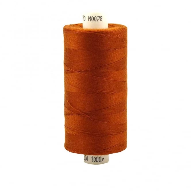 Coats Moon Spun Polyester Sewing Thread 1000 Yards - M078 - Burnt Orange