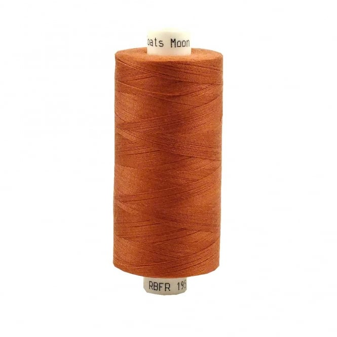 Coats Moon Spun Polyester Sewing Thread 1000 Yards - M095 - Rust