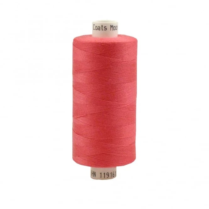Coats Moon Spun Polyester Sewing Thread 1000 Yards - M210 - Bright Pink