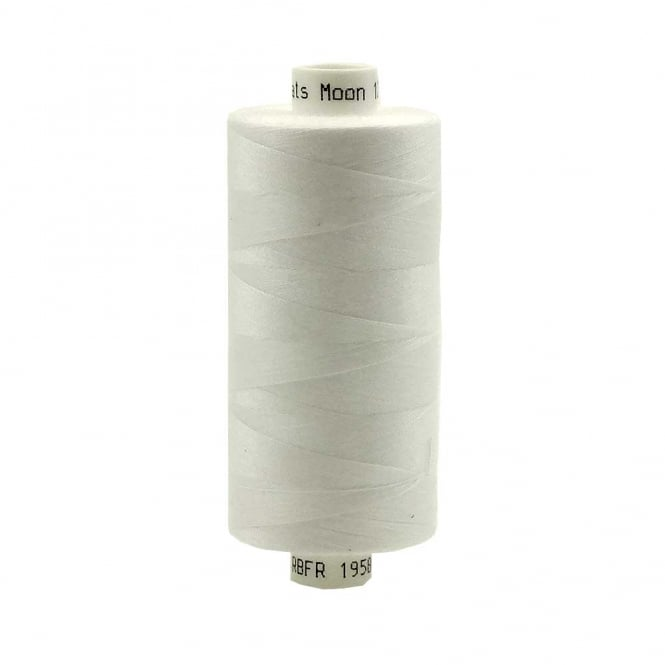 Coats Moon Spun Polyester Sewing Thread 1000 Yards - White