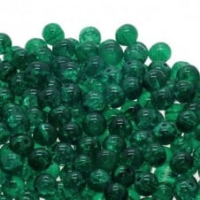 Crackle Glass Round Beads 6mm - Teal - 50pk