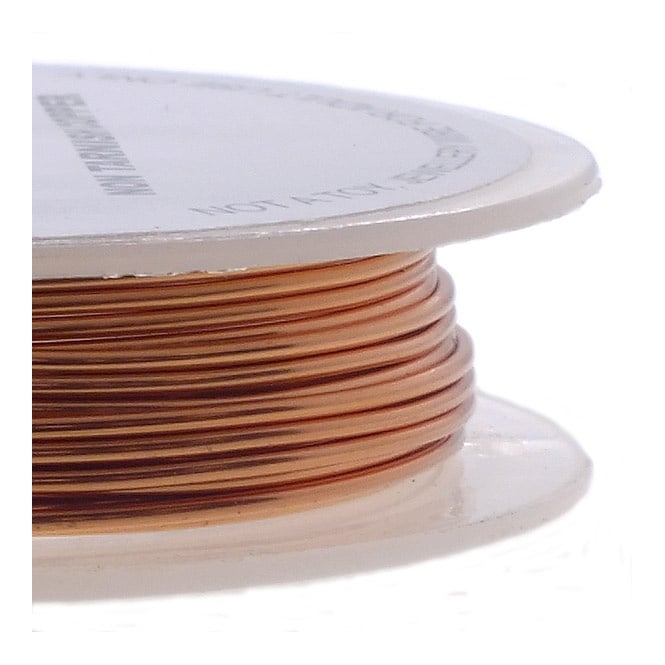Craft/Jewellery Wire 0.4mm (26ga) Non-Tarnish - Copper - 20m
