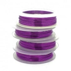 Craft/Jewellery Wire 0.4mm (26ga) Non-Tarnish - Grape - 20m