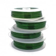 Craft/Jewellery Wire 0.4mm (26ga) Non-Tarnish - Green - 20m