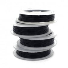Craft/Jewellery Wire 0.6mm (22ga) Non-Tarnish - Black - 10m