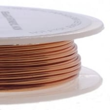 Craft/Jewellery Wire 0.6mm (22ga) Non-Tarnish - Copper - 10m