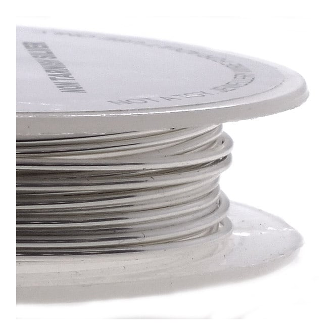 Craft/Jewellery Wire 0.6mm (22ga) Non-Tarnish - Silver - 10m