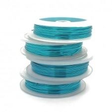 Craft/Jewellery Wire 0.6mm (22ga) Non-Tarnish - Turquoise - 10m