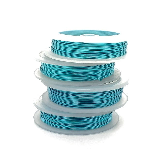 Craft/Jewellery Wire 0.8mm (20ga) Non-Tarnish - Turquoise - 6m