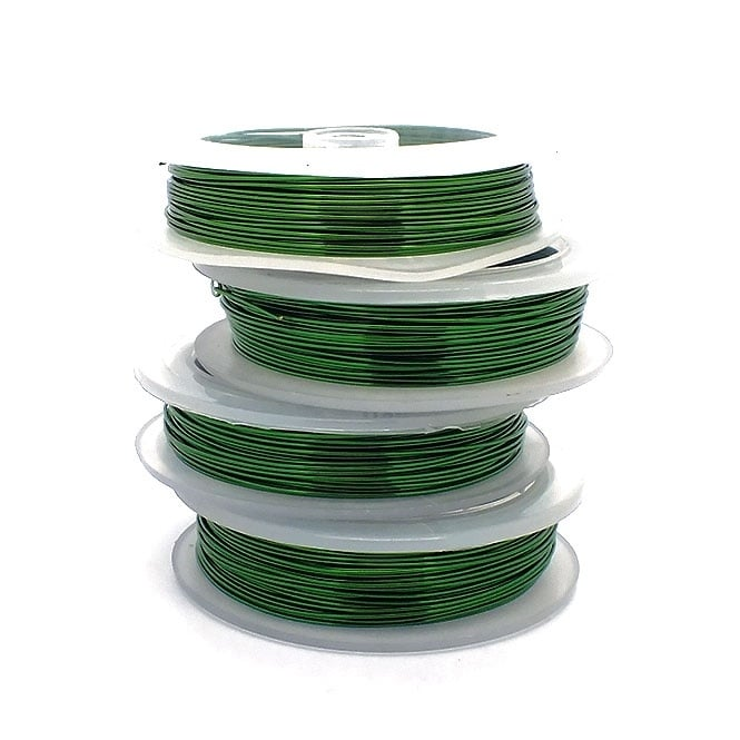 Craft/Jewellery Wire 1mm (18ga) Non-Tarnish - Green - 4m