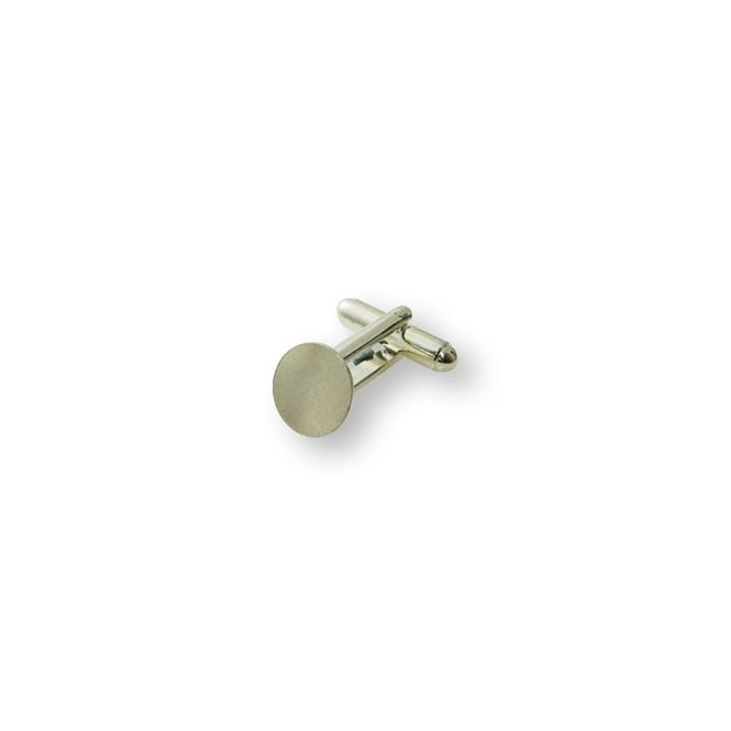 Cufflinks Findings 11m Pad - Silver Plated - 2pk