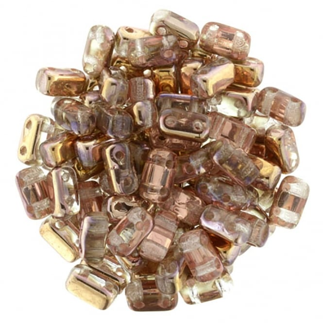 Czechmates Brick Beads 6x3mm - Apollo Gold - 50 beads