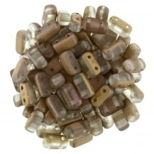 Czechmates Brick Beads 6x3mm - Matte Apollo Gold - 50 beads