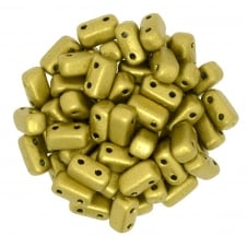 Czechmates Brick Beads 6x3mm - Matte Metallic Aztec Gold - 50 beads
