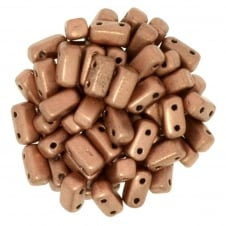 Czechmates Brick Beads 6x3mm - Matte Metallic Copper - 50 beads