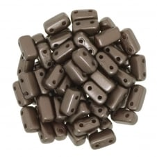 Czechmates Brick Beads 6x3mm - Pastel Dark Bronze - 50 beads