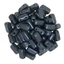 Czechmates Brick Beads 6x3mm - Pastel Dark Grey - 50 beads