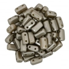 Czechmates Brick Beads 6x3mm - Pastel Light Coco Brown - 50 beads