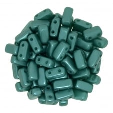 Czechmates Brick Beads 6x3mm - Pastel Teal - 50 beads